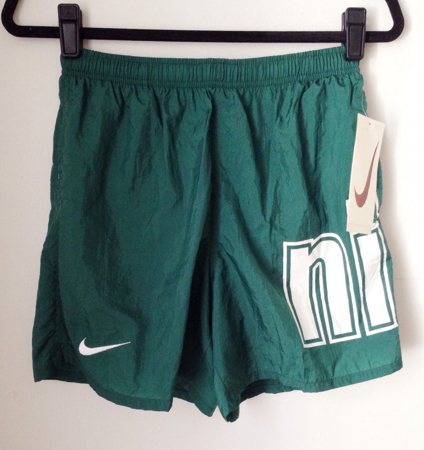 Deadstock Nike Hunter Green Athletic Shorts Boys Size Large
