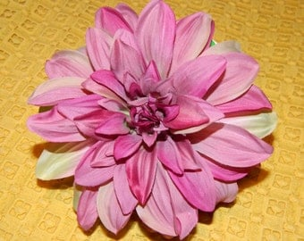 Pink & Lavender Oversized Flower Pin and Hair Clip