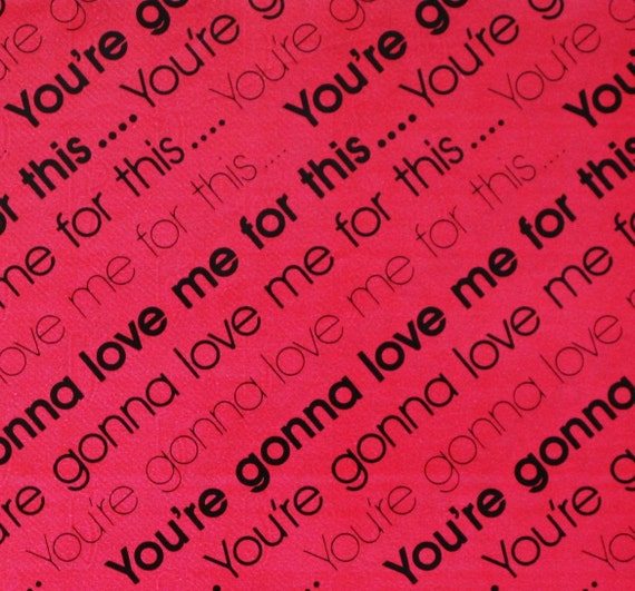 items similar to vintage valentines day gift wrap wrapping paper youre gonna love me for this 1970s on etsy - Valentines Day Wrapping Paper
