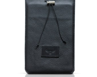 Leather iPad Mini Case / black leather/ minimalist style