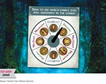 Brave Party: Family Clan Wheel Spinner Game (Digital File)