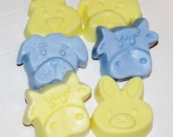 Farm Animal party Favors / 12 soaps with out tags