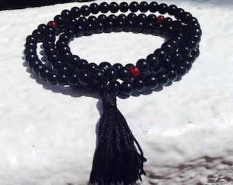 Black Prayer beads, Buddhist Prayer beads, consciousness, yoga meditation, Buddhist meditation beads, prayer beads