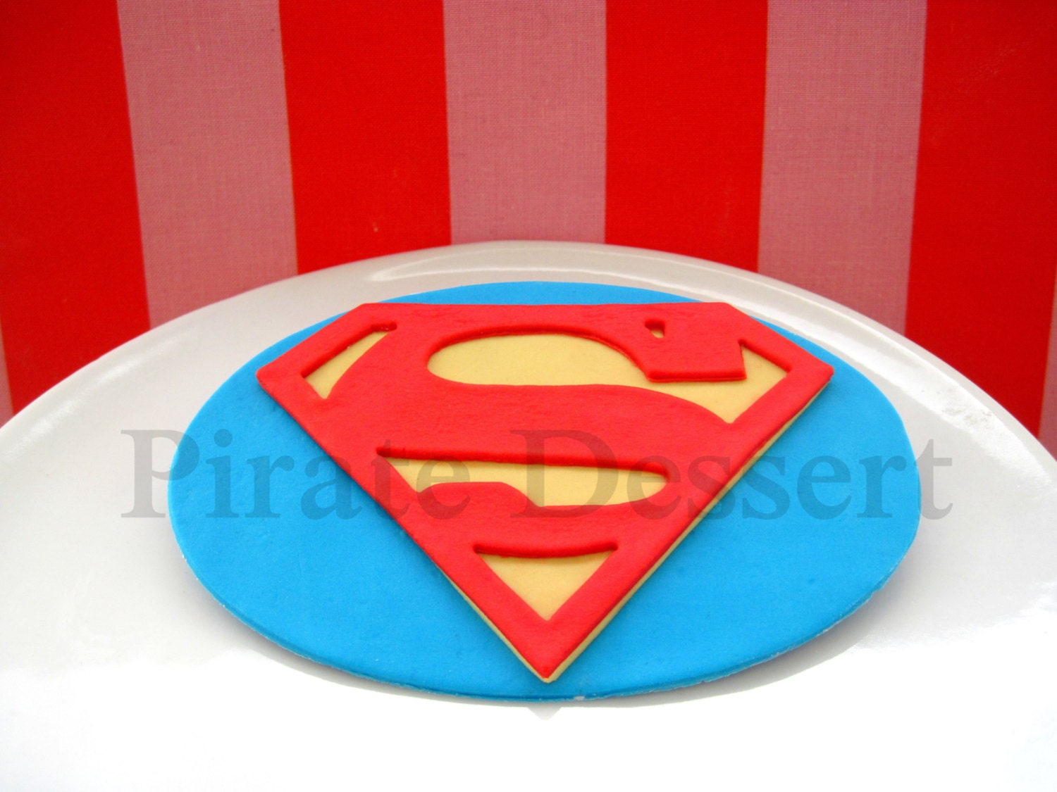 Edible Cake Topper SUPERMAN LOGO Man of Steel Justice