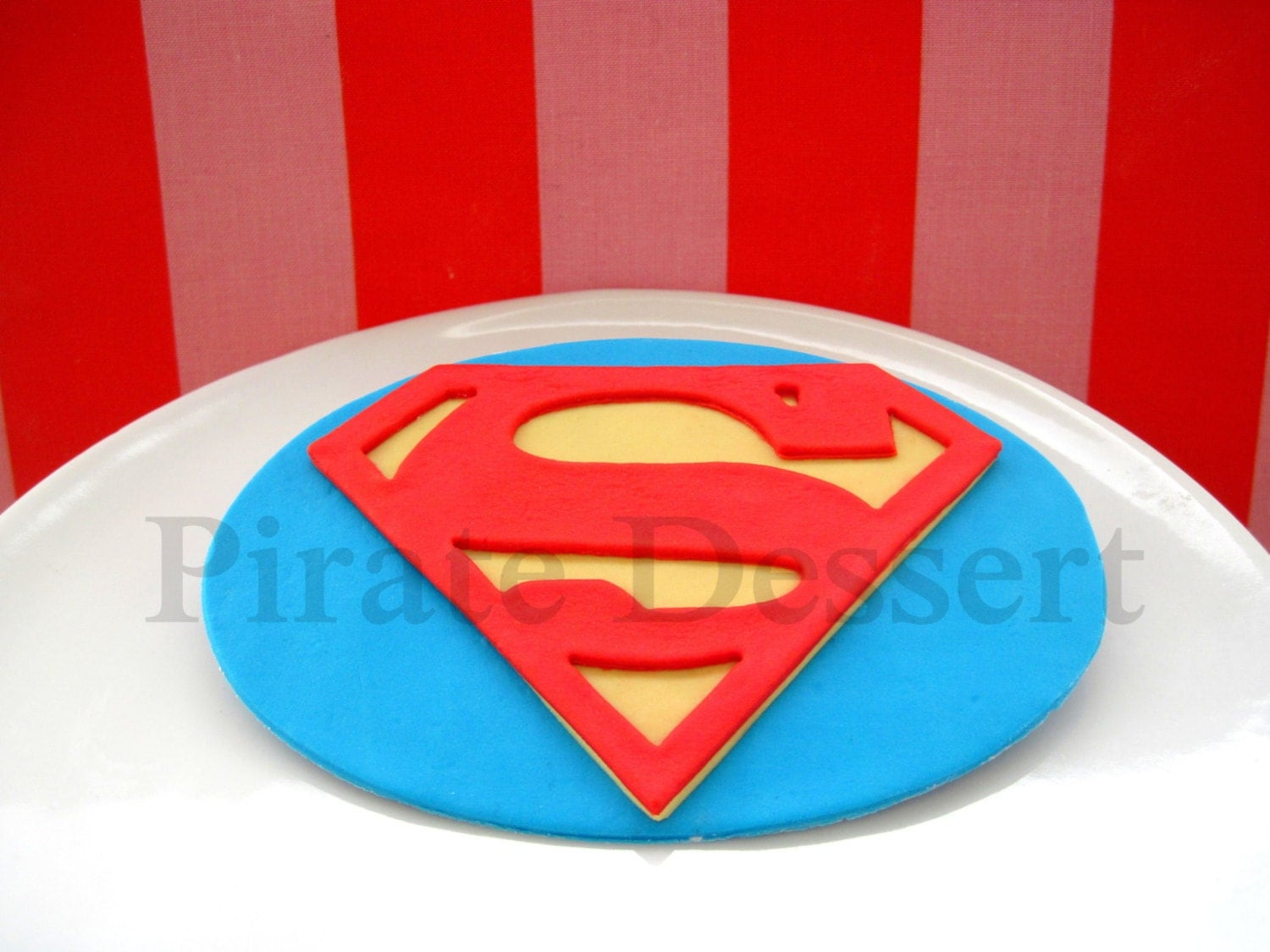 superman logo template for cake - edible cake topper superman logo man of steel justice