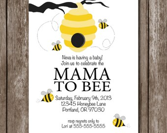 Bee Baby Shower Invite/Digital Design/Mama to Bee