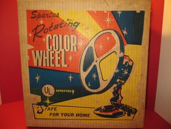 1960's Spartus Color Wheel Christmas Tree Light