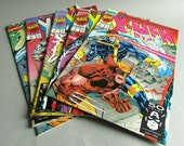 Vintage X Men Comic Book, Issue No. 1 Rubicon, October 1991, Marvel Comics, Choice of Cover 1B, or 1D