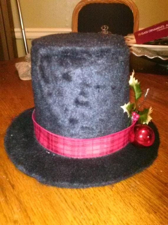 Snowman Hat Tree Topper Tabletop Snowman Hat Felt Snowman