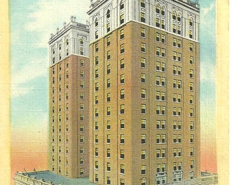 Postcard DURHAM NORTH CAROLINA Washington Duke Hotel Vintage 1949 Postmarked