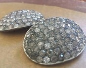 2 vintage rhinestone brooches signed sparkly vintage brooches, vintage jewelry lot