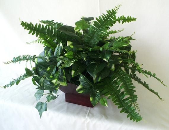 Silk plant artificial faux greenery arrangements centerpieces