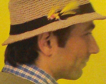 Seven (7) Vintage Men's Crochet Hat Patterns