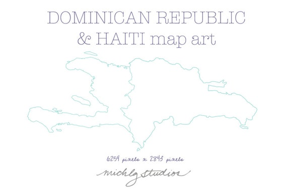 Vector and png dominican republic haiti map digital clip art for Dominican republic coloring pages