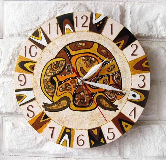 The Golden Turtle Wall Clock, Home Decor