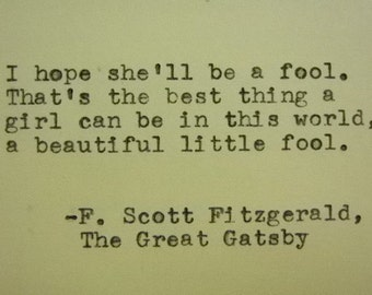 Autumn SCOTT FITZGERALD Quote Typed on Typewriter