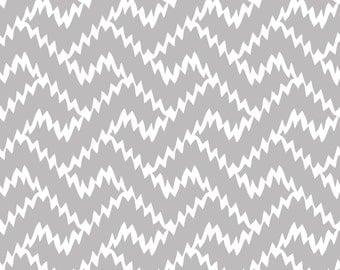 Zig Zag Gray - Fabric by the Yard
