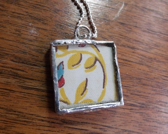 Antique Quilt Necklace