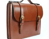 "Chestnut English Bridle Leather Briefcase 16"" x 12"" x 3"""