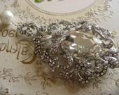 Romantic fairy Swarovski rhinestone crystals wedding bridal brooch pin