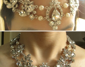 Persy love Victorian style wedding bridal choker necklace