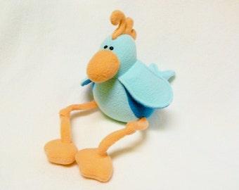 Stuffed bird toy plush with dangly legs