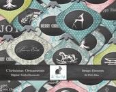 Christmas Holiday Ornament Embellishment Clipart Set - Digital Download - CU - S4H Invitations - Scrapbook-  26 Separate PNG Files