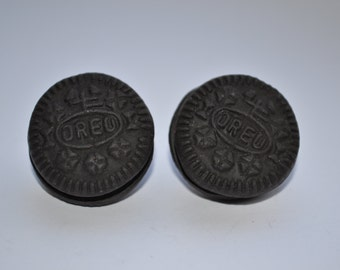 Mini Oreo Stud Earrings - Fimo