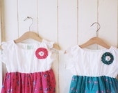 Green & Pink breezy Handmade Dress _ Choose your color! :)