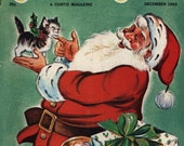 "1963 Children's Magazine ""Jack and Jill"" Christmas Edition - Santa Cover, Paper Dolls, 1960s Memorabilia - GREAT Condition #33"