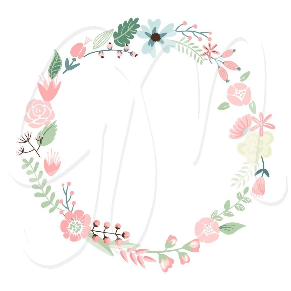 Wedding And Certificate Floral Border Border Clipart: Wedding Floral Clipart Digital Wreath Floral Frames