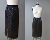 Vintage 1980s Skirt // 80s Sequin Skirt // Simply Sequined Skirt