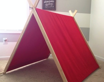 Play Tent • Red Duck Canvas A-frame Tent • Tent • Outdoor tent •