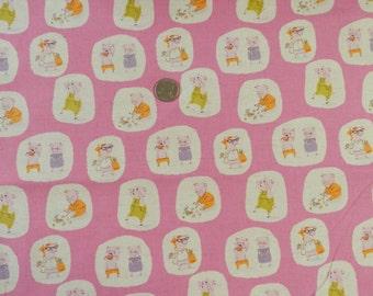 FQ OOP Heather Ross Nursery Versary Little Pigs on Hot Pink VHTF