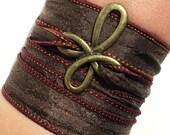 Bohemian Cross Silk Wrap Bracelet Faith Yoga Jewelry Necklace Arm Band Spiritual Unique Gift For Her Under 30 Item M6