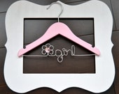 Personalized Flower Girl Hanger  - flower girl gift,wedding photo prop -