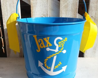 Personalized Anchor10qt Pail / Easter Bucket / Basket