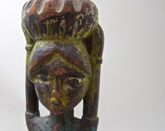 Thai Wooden Female Sculpture