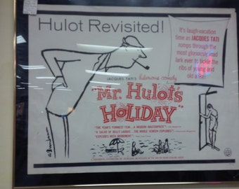 22 x 28 Jacques Tati Hulot's Holiday Poster unframed Original 1953