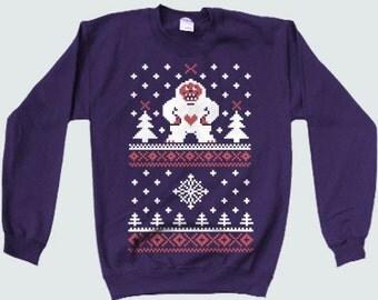 Christmas Bling Sweatshirt. Hip hop Christmas sweater.Ugly