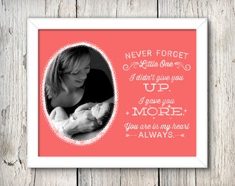 Never Forget - Custom Printable Birthmother + Adoption Art