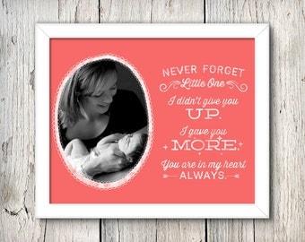 Never Forget - DIY Printable Birthmother + Adoption Art