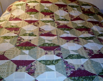 Optical Squares Queen Quilt