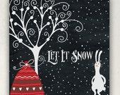ETSY SHOP BANNERS Let It Snow
