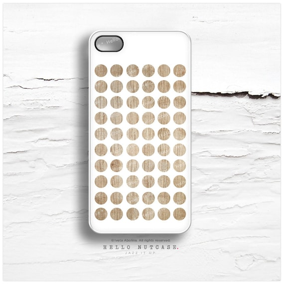 iPhone 6S Case, iPhone 5C Case Polka Dots, iPhone 5s Case White, iPhone 6 Case, Geometric iPhone Case, Wood Polka iPhone 6S Plus Cover I130