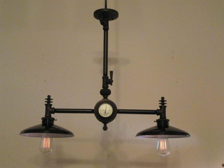 Steampunk lampe lustre industriel vintage par steampunklights for Lustre industriel