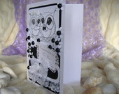 Black and White Wedding Card, Owl Wedding Card, Mr and Mrs Wedding, Bride and Groom, Congratulations Wedding, On your Wedding Day, Owl bride