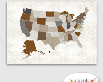 View MAP USA STATES By HappyPlaceArt On Etsy - Huge us map
