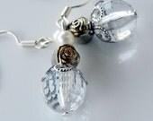 Beaded white earrings boho chic casual jewelry