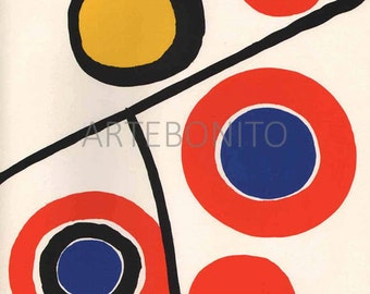 "Calder "" DM48201"" Original Lithograph 1973"